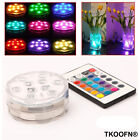 NEW Submersible LED Tea Light Battery Wedding Vase Waterproof + Remote control