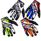 Oneal Jump Shocker 2016 Motocross Gloves Off Road Lightweight Adjustable MX Moto
