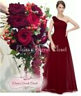 PIPPA Cranberry Red Corsage Chiffon Bridesmaid Evening Prom Dress Sizes 8 - 20