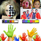Halloween Party Water-based Face Body Paint Fancy Dress Bühne Make Up Palette