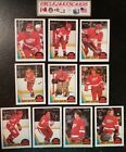 1987-88 OPC DETROIT RED WINGS Select from LIST NHL HOCKEY CARDS O-PEE-CHEE