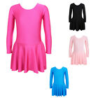 Girls Dancing Gymnastic Polyamide Leotards One Piece Skate Long Sleeve