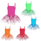 Girls Butterfly Fairy Sling Gymnastic Leotard Ballet Tutu Dress Dancewear 3-8Y