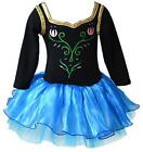 Girls Cosplay Party Dancewear Flower Sequin Long Sleeve Ballet Tutu Dress 2-8Y