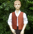Boys Victorian Edwardian waistcoat sizes 7 yrs to 12 yrs with square edge