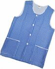 1 Ladies Check Sleeveless Tabard Apron Work Overall / Elaine / Royal / All Sizes