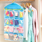 Transparent Pockets Hanging Closet Organizers  Door Wall Sock Baby Shoe Storage