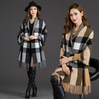 2016 autumn and winter new double-sided wool shawl coat long sweater women