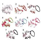 7pcs/Set Baby Girls Elastic Rubber Hair Ties Band Rope Ponytail Holder Hair Clip