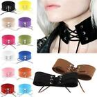 COOL Punk Gothic Wide Rope Tie Collar Velvet Choker Lace Up Necklace Jewelry LA