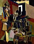 The Visit by American Artist Max Weber. Canvas Art Print. Size 11x14