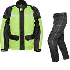 Agrius Columba Motorcycle Jacket & Hydra REGULAR Leg Trousers Hi-Vis Kit Armour