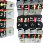 Ladies Quality Cotton Rich Cushion Sole Crown Sports Socks White Grey Black 4-7