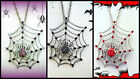 SPIDER WEB NECKLACE~WOMENS WICKED WITCH SEXY ADULT HALLOWEEN COSTUME ACCESSORY