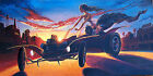 Where Does The Time Go by Damian Fulton Dracula Hot Rod Car Canvas Art Print