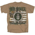 Realtree Air Force Seal with Flag Adult Short Sleeve T-shirt