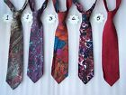 Modern Designer Red Multi-coloured Patterned Paisley Silk Tie Blue Purple Green