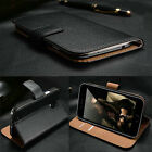 Real Genuine Leather Flip Wallet Slim Case Cover For New iPhone 7/7 Plus
