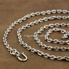 4mm Square link Chain 925 Sterling Silver Pendant Matching Necklace 8L010A