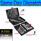 Professional Ratchet Spanner Tool Set Flexible Ratcheting Wrench Spanners Garage
