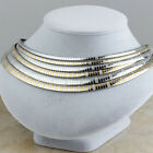 Women's Stainless Steel Fashion Silver Gold Female Collar Choker Chain Necklaces