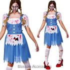 K251 Ladies Zombie Dorothy Country Girl Walk Dead Gory Halloween Costume Outfit