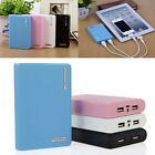 Dual USB Power Bank 4x 18650 External Backup Battery Charger Box Case For Phone