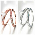 1pair Hot Personality Rhinestone Women's Round Rings Size 5-9 Fit Gifts Lots LC