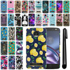 For Motorola Moto Z Droid Edition PATTERN HARD Protector Back Case Cover + Pen