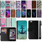 For Apple Iphone 6 Plus 6S Plus 5.5 inch Wallet Leather POUCH Case Cover + Pen