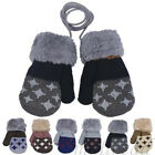 Cute Newborn Baby Kids Girls Boys Gloves Winter Warm Stretchy Knitted Mittens
