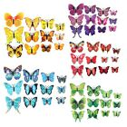 12 Pcs 3D Butterfly Sticker Art Design Decal Wall Stickers Home Decor New