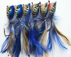 6 X High Quality Medium Surf Poppers Fishing Lure, Blue Laser Colour, Tackle1