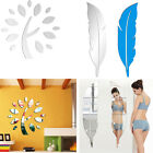 Removable Trees/Feather Wall Sticker Creative Mirror Wall Decal Home Room Decor