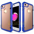 Blue/Frost Apple iPhone 7 & 7 Plus High-End Hybrid Rubber Shockproof Case Cover