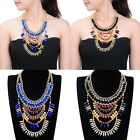 Fashion Jewelry Colorful Resin Crystal Choker Statement Bib Pendant Necklace