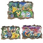 Pokemon Pocket Monster Pikachu Cartoon Wall Stickers Decals for Kid's Home Decor