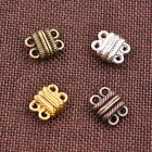3/5/10Sets GOLD &SILVER,BRONZE,COPPER 2 Strands Magnetic Slide Clasps Hooks