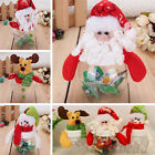 Christmas Clear Plastic Santa Cookie Candy Storage Bottle Bags Xmas Party Gifts
