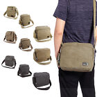 Men\'s Vintage Canvas Messenger Shoulder Bag Military Travel Hiking Satchel