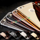 NEW Luxury Aluminum Ultra-thin Mirror Metal Case Cover for iPhone 5 6 6s 7 7Plus