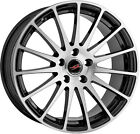 Alloy Wheels 18'' Project-A Sprint Black Polished Face For VW Eos 06-14