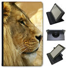 African Lion Big Cat Universal Folio Leather Case For Linx Tablets