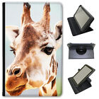 African Giraffe Universal Folio Leather Case For Linx Tablets