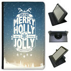 Snow Typography Christmas Wishes Universal Leather Case For Amazon KindleTablets