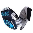 New Cycling Gloves Bike Bicycle 3D GEL Full Finger Glove Shockproof Blue