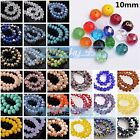 (138 COLORS) 15pcs 10mm Rondelle Faceted Crystal Glass Loose Spacer Beads