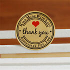 12/60/120x Thank  You Hand Made with Love Especially for You Stickers Label
