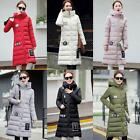Fashion Women's Winter Down Cotton Padded Long Jacket Casual Hooded Parka Coat