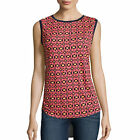 Stylus Mixed-Media Tank Top Size M, L New Navy Coral